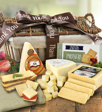 Thank You Cheese Gift Basket - 1800baskets.com