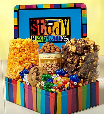 The Popcorn Factory� Study Hard Deluxe Tin