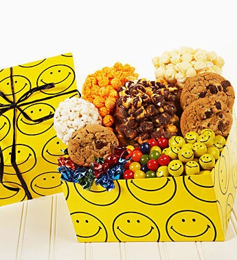 The Popcorn Factory Smiley Face Sampler Box