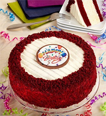Junior's Happy Birthday Red Velvet Cheesecake