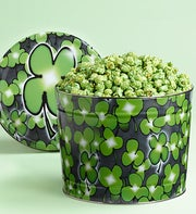 The Popcorn Factory Shamrock Popcorn Tin 2G