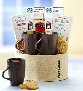 Starbucks� Deluxe Coffee for Two Gift Basket