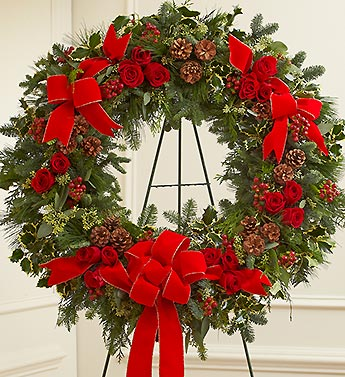 Serene Blessings Standing Wreath - Holiday