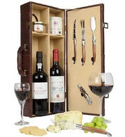 Fine Port, Claret and Stilton Gift Case