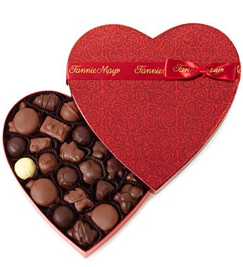 Fannie May® Colonial Chocolates Heart Box 1lb