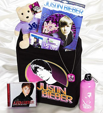 Justin Bieber Deluxe Totebag with Holiday CD