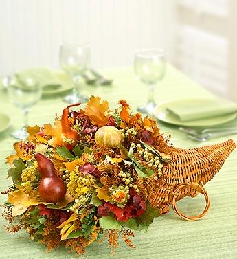 Thanksgiving Gourd Cornucopia