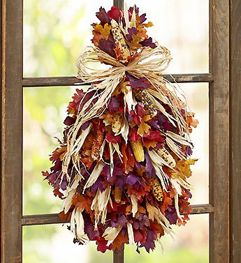 Preserved Autumn's Bounty Swag-22""