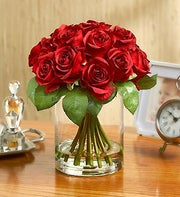 Silk Red Rose Water Bouquet