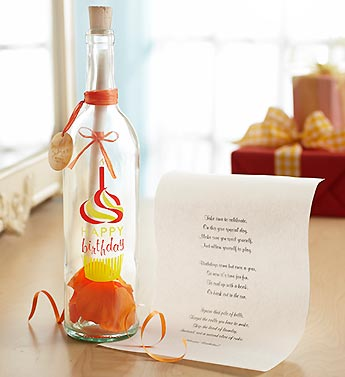 Message in a Bottle� Happy Birthday Cupcake