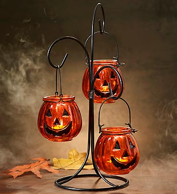 Tea Light Pumpkin Tree
