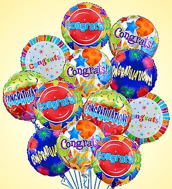 Air-rangemnt Congratulations Mylar Balloons