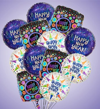 Air-Rangement� - Happy New Year Mylar Balloons