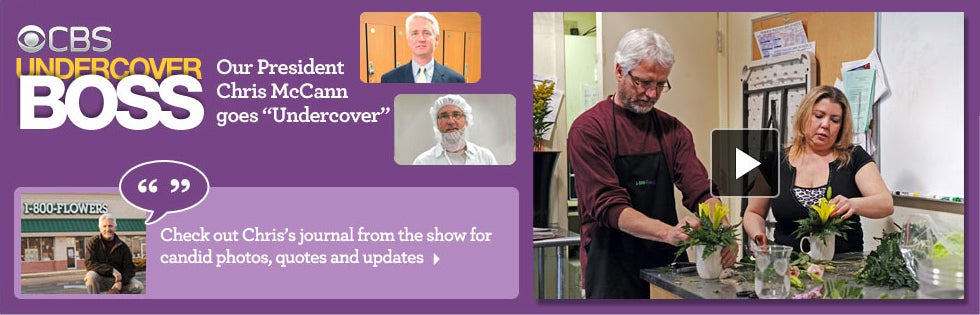 "CBS UNDERCOVER BOSS - Our President Chris McCann goes ""Undercover"" - Watch the preview >"